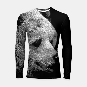 Miniatur gxp kodiak brown bear vector art black white Longsleeve rashguard , Live Heroes