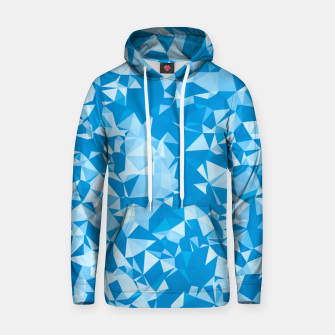Thumbnail image of geometric triangle pattern abstract in blue Hoodie, Live Heroes