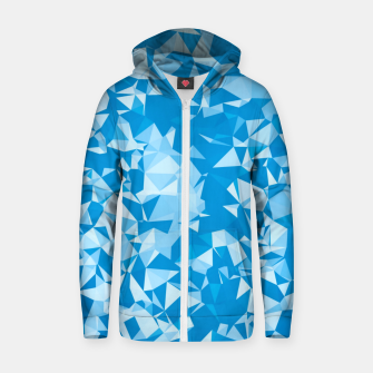 Thumbnail image of geometric triangle pattern abstract in blue Zip up hoodie, Live Heroes