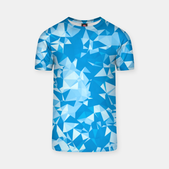 Thumbnail image of geometric triangle pattern abstract in blue T-shirt, Live Heroes