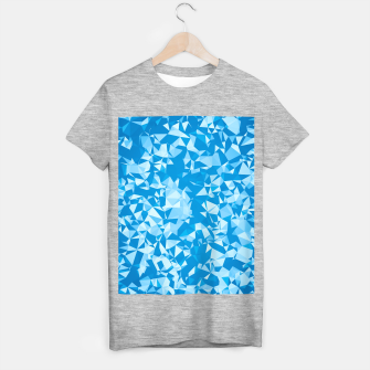 Thumbnail image of geometric triangle pattern abstract in blue T-shirt regular, Live Heroes