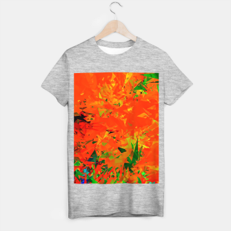 Thumbnail image of geometric triangle pattern abstract in orange green T-shirt regular, Live Heroes