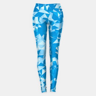 Thumbnail image of geometric triangle pattern abstract in blue Leggings, Live Heroes
