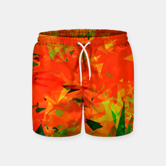 Thumbnail image of geometric triangle pattern abstract in orange green Swim Shorts, Live Heroes