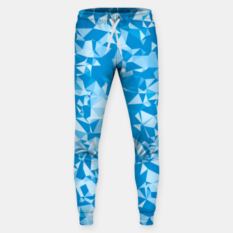 Thumbnail image of geometric triangle pattern abstract in blue Sweatpants, Live Heroes