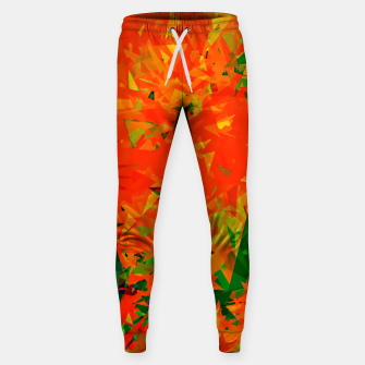 Thumbnail image of geometric triangle pattern abstract in orange green Sweatpants, Live Heroes