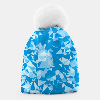 Thumbnail image of geometric triangle pattern abstract in blue Beanie, Live Heroes