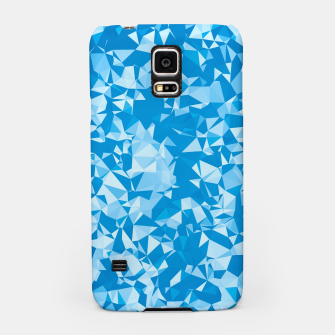 Thumbnail image of geometric triangle pattern abstract in blue Samsung Case, Live Heroes
