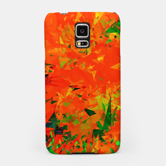 Thumbnail image of geometric triangle pattern abstract in orange green Samsung Case, Live Heroes