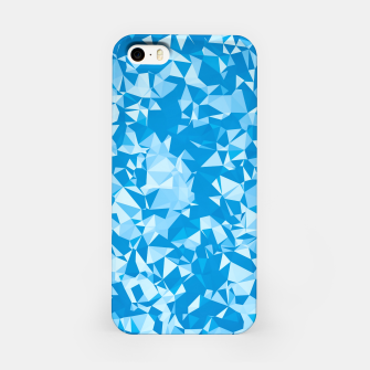 Thumbnail image of geometric triangle pattern abstract in blue iPhone Case, Live Heroes