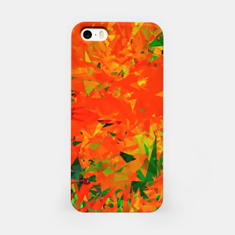Thumbnail image of geometric triangle pattern abstract in orange green iPhone Case, Live Heroes