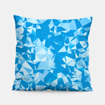 Thumbnail image of geometric triangle pattern abstract in blue Pillow, Live Heroes