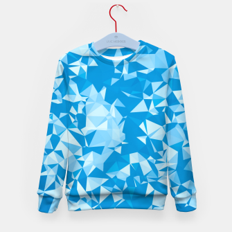 Thumbnail image of geometric triangle pattern abstract in blue Kid's sweater, Live Heroes