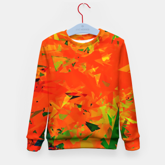 Thumbnail image of geometric triangle pattern abstract in orange green Kid's sweater, Live Heroes