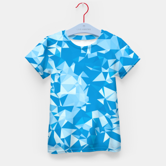 Thumbnail image of geometric triangle pattern abstract in blue Kid's t-shirt, Live Heroes
