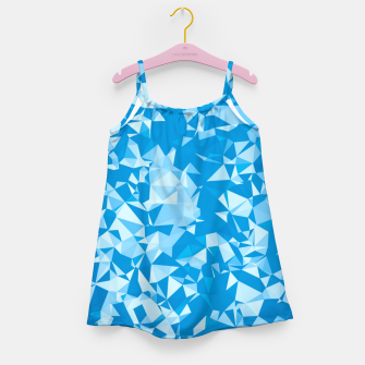 Thumbnail image of geometric triangle pattern abstract in blue Girl's dress, Live Heroes