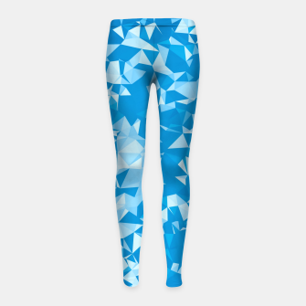 Thumbnail image of geometric triangle pattern abstract in blue Girl's leggings, Live Heroes