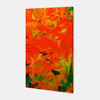 Thumbnail image of geometric triangle pattern abstract in orange green Canvas, Live Heroes