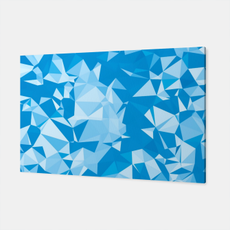 Thumbnail image of geometric triangle pattern abstract in blue Canvas, Live Heroes