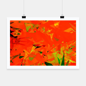 Thumbnail image of geometric triangle pattern abstract in orange green Poster, Live Heroes