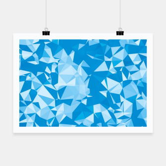 Thumbnail image of geometric triangle pattern abstract in blue Poster, Live Heroes