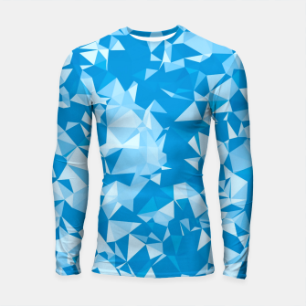 Miniatur geometric triangle pattern abstract in blue Longsleeve rashguard , Live Heroes