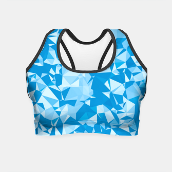 Thumbnail image of geometric triangle pattern abstract in blue Crop Top, Live Heroes