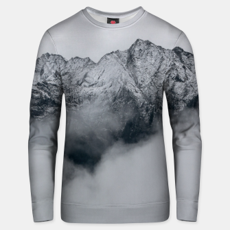 Thumbnail image of Winter Is Here - Misty Black Rocks Unisex sweater, Live Heroes
