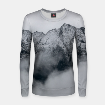 Thumbnail image of Winter Is Here - Misty Black Rocks Women sweater, Live Heroes