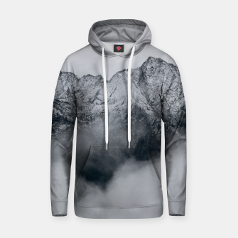 Winter Is Here - Misty Black Rocks Hoodie Bild der Miniatur