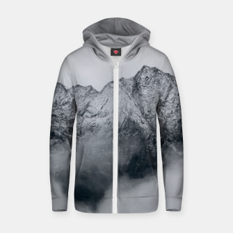Winter Is Here - Misty Black Rocks Zip up hoodie Bild der Miniatur
