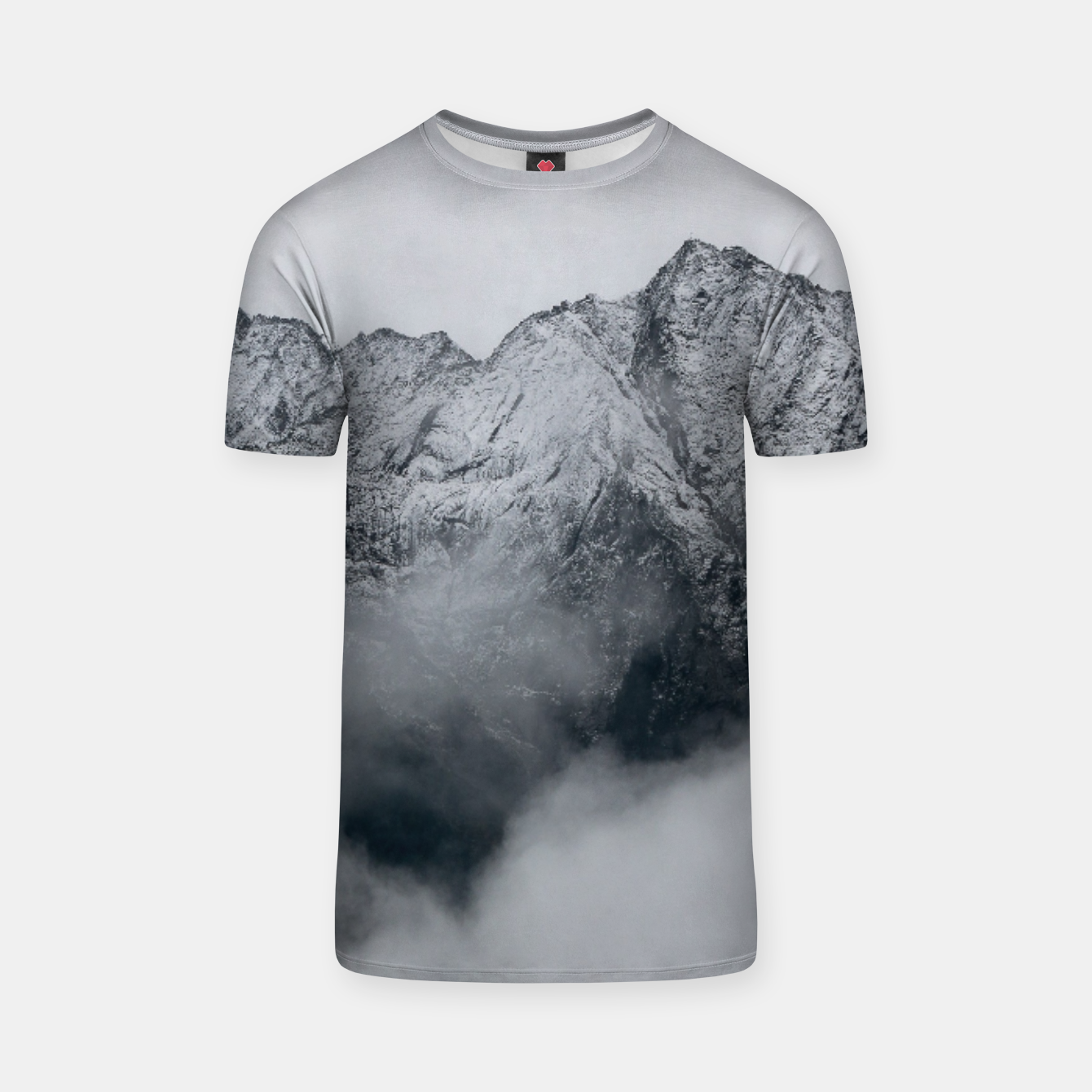 Foto Winter Is Here - Misty Black Rocks T-shirt - Live Heroes