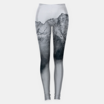 Winter Is Here - Misty Black Rocks Leggings Bild der Miniatur