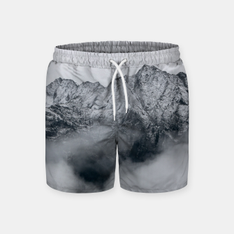 Winter Is Here - Misty Black Rocks Swim Shorts Bild der Miniatur