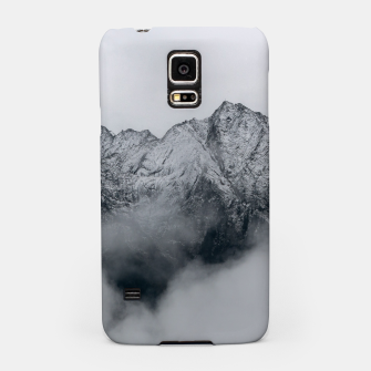 Winter Is Here - Misty Black Rocks Samsung Case Bild der Miniatur
