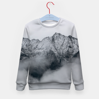 Thumbnail image of Winter Is Here - Misty Black Rocks Kid's sweater, Live Heroes