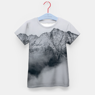 Winter Is Here - Misty Black Rocks Kid's t-shirt Bild der Miniatur