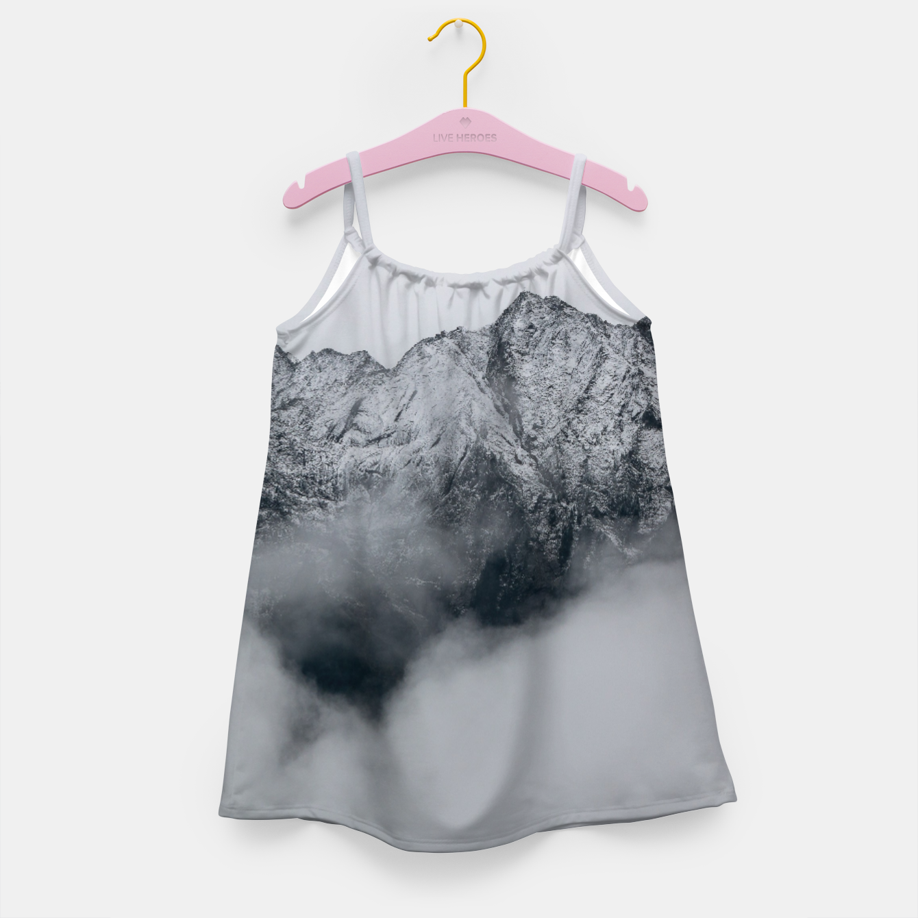 Image of Winter Is Here - Misty Black Rocks Girl's dress - Live Heroes