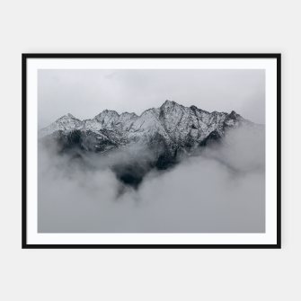 Thumbnail image of Winter Is Here - Misty Black Rocks Framed poster, Live Heroes