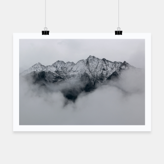 Winter Is Here - Misty Black Rocks Poster Bild der Miniatur