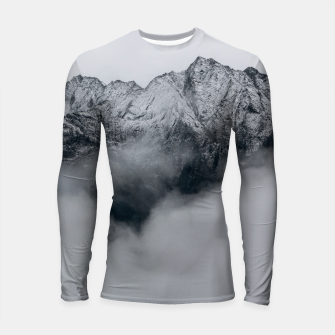 Thumbnail image of Winter Is Here - Misty Black Rocks Longsleeve rashguard , Live Heroes