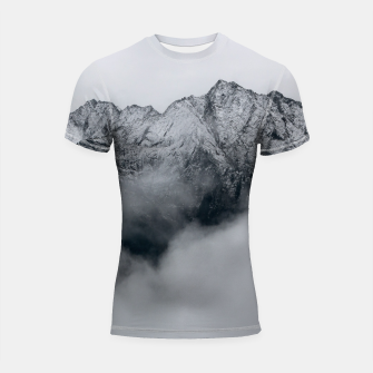 Winter Is Here - Misty Black Rocks Shortsleeve rashguard Bild der Miniatur