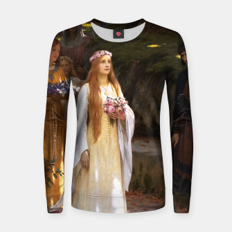 Thumbnail image of My Fair Lady by Edmund Leighton Women sweater, Live Heroes