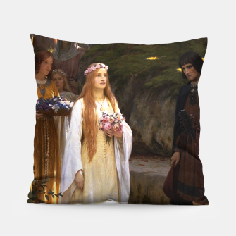 Thumbnail image of My Fair Lady by Edmund Leighton Pillow, Live Heroes
