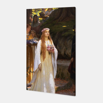 Thumbnail image of My Fair Lady by Edmund Leighton Canvas, Live Heroes