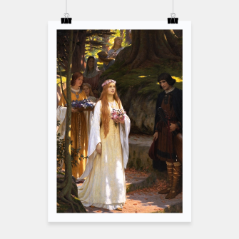 Thumbnail image of My Fair Lady by Edmund Leighton Poster, Live Heroes