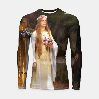 Thumbnail image of My Fair Lady by Edmund Leighton Longsleeve rashguard , Live Heroes