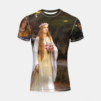 Thumbnail image of My Fair Lady by Edmund Leighton Shortsleeve rashguard, Live Heroes