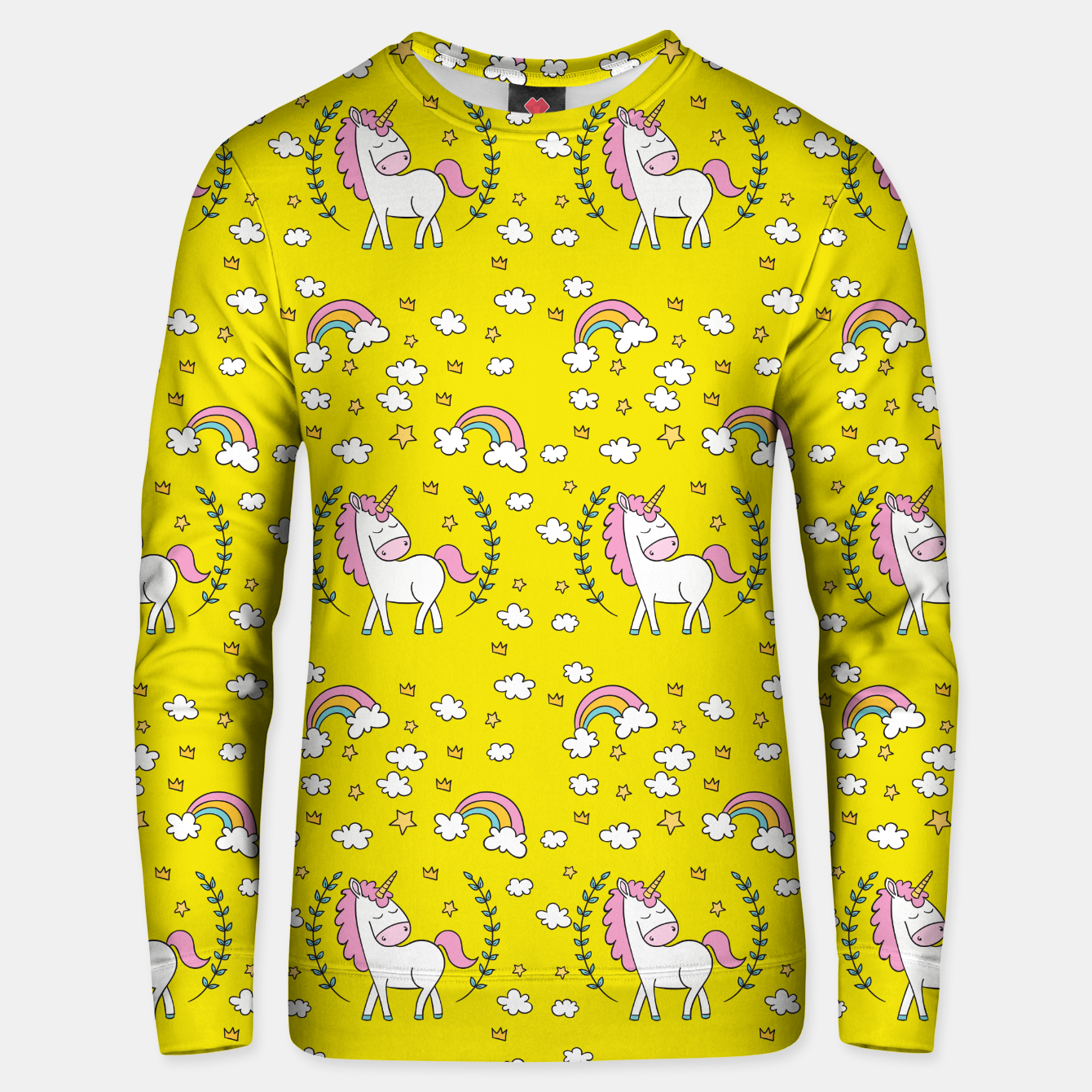 Image of Unicorn on yellow unisex sweater - Live Heroes
