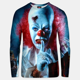 Thumbnail image of Creepy Clown unisex sweater, Live Heroes